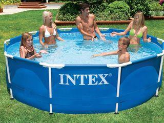 28200 Бассейн каркасный Intex Metal Frame Pool, 305х76см
