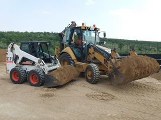 Servicii excavator, buldoexcavator,bobcat,miniexcavator,compactor,каток,Kamaz,dezapezire