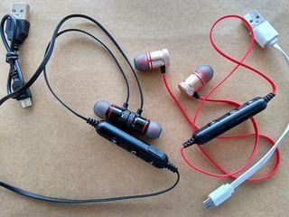 Компактные беспроводные стерео наушники с магнитным креплением - 100 лей