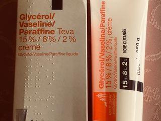 Glicerol, vaselină și parafina crema