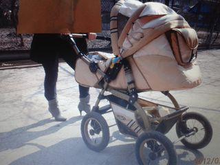 Продаю коляску, манеж, столик для кормления, качелька-прыгунки,ходунки.