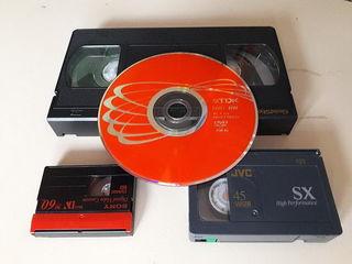 Перезапись-оцифровка видеокассет всех форматов в DVD диски с редактированием, недорого.