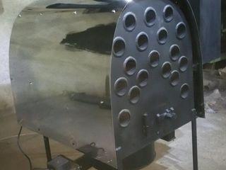 Воздушные обогреватели на отработанном масле.