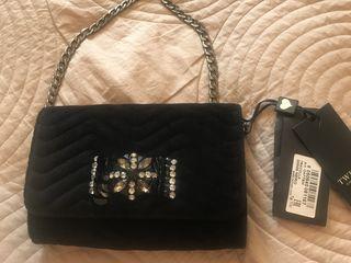 Вечерняя бархатная сумочка Twin Set