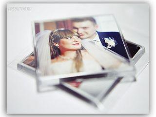 Свадебные магниты, Фото на магните, Фото в акриловой рамке на магните