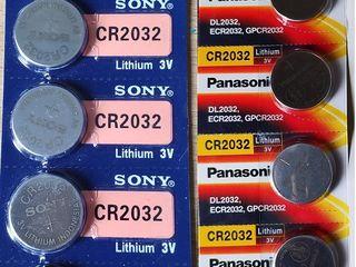 Батарейки Sony, Panasonic CR2032. Аккумуляторы Eneloop, Fujitsu, Batmax NP-BX1 для экшнкамер Sony.