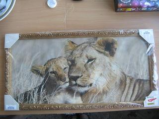 Картина львица и львенок новая