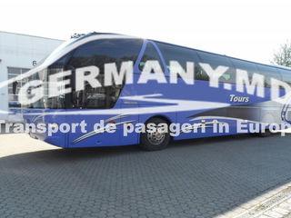 Portugalia, Spania, Franta, Marea Britanie (Anglia) etc. Transport de persoane.