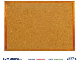 Доска маркерная офисная   пробковая корка officeline 90x120 деревянная рамка ol.bd.42