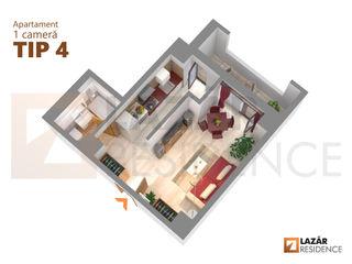Apartament 1 camera in iasi (romania) - tip 4 - centru - palas