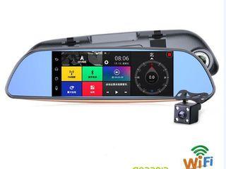 """Автомобильный видеорегистратор-зеркало 7"""" gps android  2 камеры gps 3g wifi 16gb a"""
