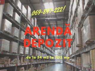 Arenda depozit / depozite  de la 3 la 6 euro/m2