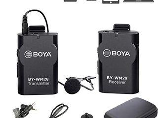Microfon fara fir BOYA WM2G Lavalier Wireless