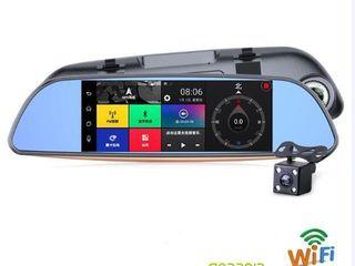 """Автомобильный видеорегистратор-зеркало 7"""" gps android 2 камеры gps 3g wifi 16gb  (карта еu)"""