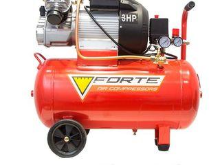Compresor 50 litri Forte VFL-50, 2 cilindre/Livrare gratuita/Garantie/Credit 0%