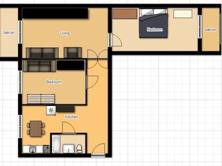 3-х комнатная квартира, гараж в Криково