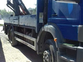 Грузоперевозки; transport de marfa 12 tone cu servici cu manipulator.+ 24  tone cu salandra.