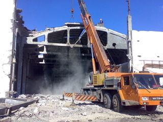 Бельцы аренда прокат услуги спецтехники снос домов строений бетоновырубка разрушение бетона