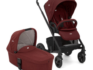 Carucior multifunctional 2 in 1 Joie Chrome DLX Cranberry. Livrare - Mamico.md