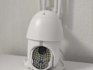 PTZ/ IP Наружная камера - IP66 .5мп.Ночью видит на 100 метров. .4 антены!Мощная сирена!