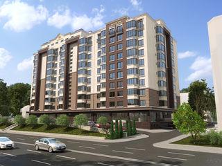 Buiucani! Alba Iulia Residence, Ap. cu 1odaie, 43,35m2 la preț de la 600€/m2