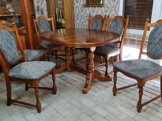 Masa, scaune, masa alba, scaune , mese , scaune importate din Europa, белый стол, стол и стулья, и