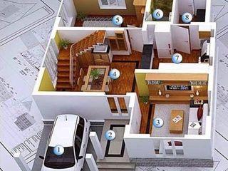 Construim case, оficii la chee.  Строим дома + фундаменты, стены, перекрытие, крыши.