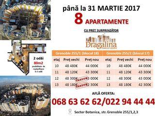 Oferta! 8 apartamente cu 2 odai 80,5m2 de la 42 300euro pina la 44 000 euro