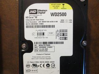 "3.5"" HDD 250GB WD IDE(PATA) без бэдов,=250лей. Гарантия 3 месяца."