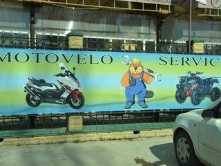 Reparatia scuterilor ,motociklete ,atv (kvadrocikle),motoare , sistemul electronic ,si altele .