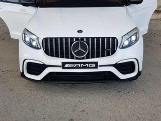 Mercedes-benz glc coupe licențiat, roti cauciuc si scaun piele (nou)