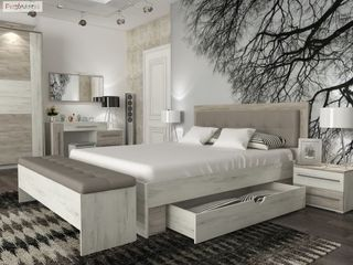 Кровать Милана 1600 с мягким изголовьем. Доставка по всей Молдове бесплатная. Paturi ieftin Moldova