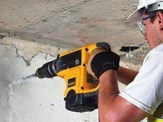 Сверление отверстий в бетоне. Установка карнизов, полок, ванных наборов. Монтаж телевизоров на стену