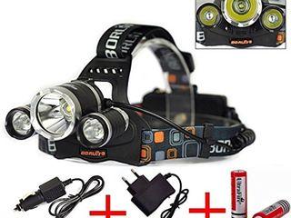 вело На лобный  LED Headlight 2000 Lumens Cree XM-L T6