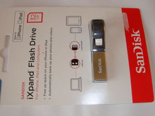 USB Flash pentru IPhone, IPad si computer, SanDisk iXpand 32 gb, 64 gb, nou sigilat