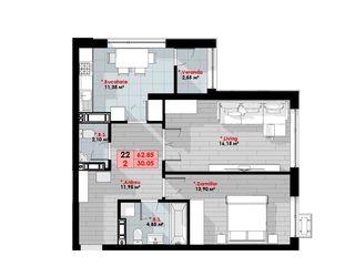 Alpha Residence, Buiucani, Planificări individuale, 2 camere!