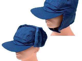 Шапка-ушанка CZU - синяя