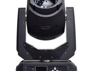 Lumini profesionale Beam Spot 2 in1 LED 200 Watt capuri rotative în huse speciale 4 unități .