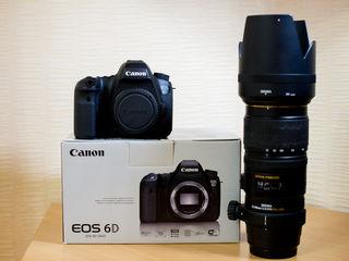 La vinzare Canon 6D+obectiv Sigma 70X200mm 1.2.8 APO DG HSM