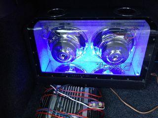 Буфер Toxic с подсветкой+усилитель 1600w+проводка =130 евро