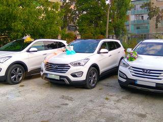 Mercedes-Benz albe/negre Hyundai Santa FE (alb) Transport pentru ceremonie