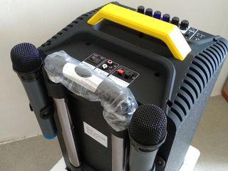 !Boxa noua cu acumulator /karaoke 2 microfoane /акустическая система 3500 lei !!!!