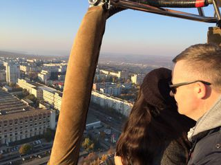Полёт над Кишинёвом на воздушном шаре