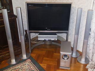 Телевизор Panasonic + 5.1 система DVD с колонками + сабвуфер