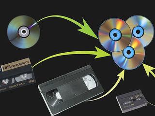 Перезапись с видеокассет VHS, VHS-compact, HDV, miniDV, 8, Hi8, Digit.8.