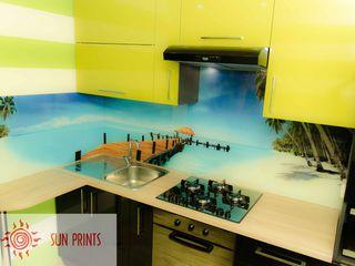 Кухонный фартук из стекла - индивидуальный дизайн! Лучшая цена!