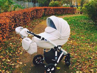 Красивая колясочка 2 в 1 adamex toscana  2 в 1 эко кожа!