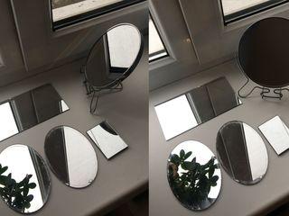 За всё 120л! Зеркало косметическое, настольное с увеличением с другой стороны + в подарок 4 зеркала