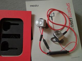 Беспроводные bluetooth наушники Meizu EP-51 Sports Earphone (Red)  Состояние хорошее.   цена 300 лей