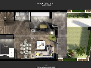 Vânzare Townhouse, 109 mp, Ciocana, 580 Euro/mp